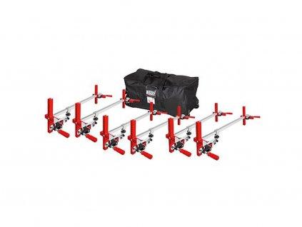 BESSEY - vzpěry pro montáž zárubně 6xTU-TRAGE upínací délka 565-1010 mm + nosič (sada)