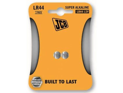Alkalická baterie LR44, blistr 2 ks JCB JCB-LR44-2B