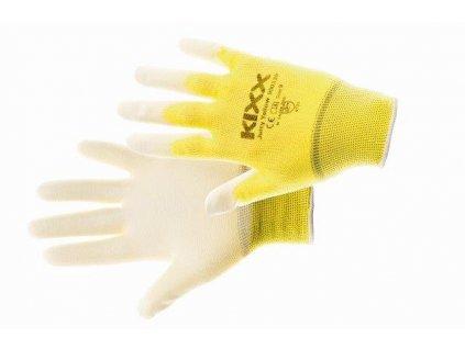 JUICY YELLOW  rukavice nylonové PU dlaň žlutá, velikost 7 CERVA GROUP a. s. JUICYY07