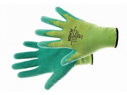 GROOVY GREEN rukavice nylon. latex. zelená, velikost 7 CERVA GROUP a. s. GROOVYG07