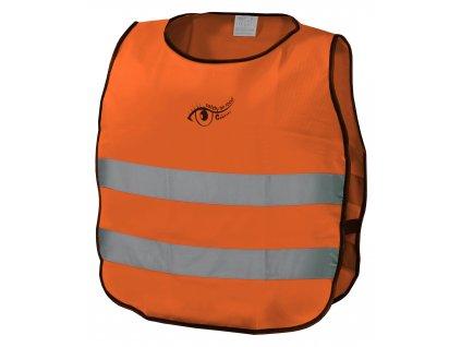Vesta výstražná oranžová dětská EN 1150 Compass 01513N