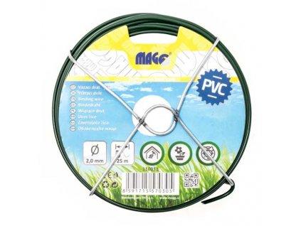 Vázací drát PVC 2,0 mm, délka 25 m