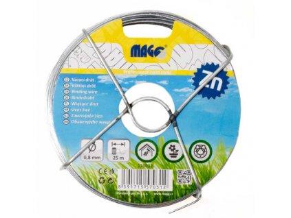Vázací drát Zn 0,8 mm, délka 25 m