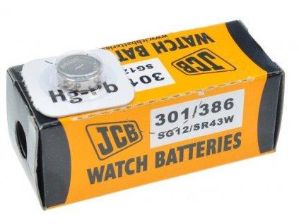 JCB hodinkové baterie typ 301/386, balení 10ks