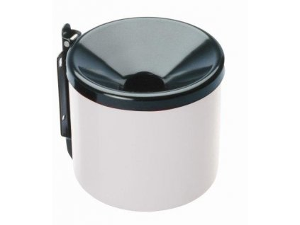 MEVA - popelník nástěnný průměr 150mm bílo/černý