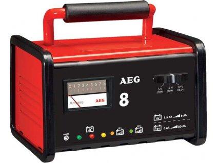AEG - Nabíječka baterií kovová 8A, 6/12V, 2-80Ah