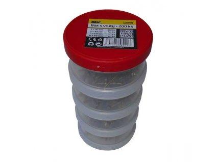 Plastový box s balením vrutů - 200ks
