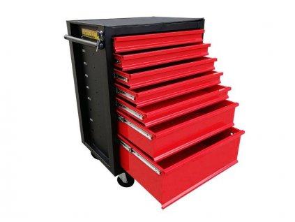 Dílenský pojízdný box na nářadí, 7 zásuvek - ocelová konstrukce MAGG 120024