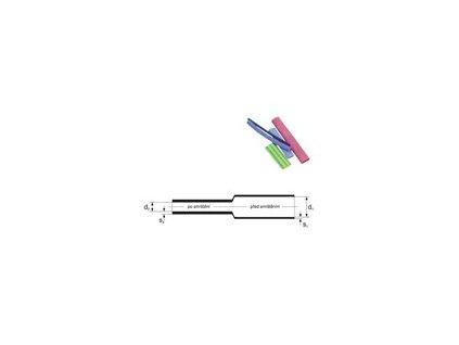 Elektroizolační smršťovací bužírka PE; 1 m; průměr 6,4/3,2mm - zelená