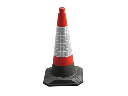 Výstražný silniční kužel 50cm; oranžový