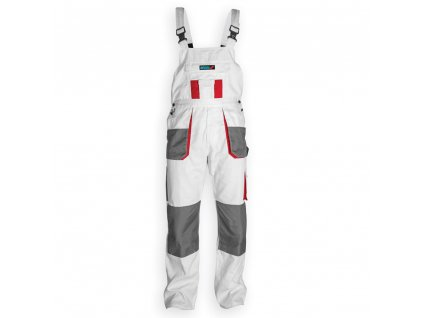 Kalhoty ochranné montérky velikost XXL/58, bílá, gramáž 190g/m2 DEDRA BH4SO-XXL