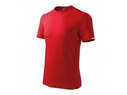 Tričko pánské M, červené, 100 % bavlna DEDRA BH5TC-M