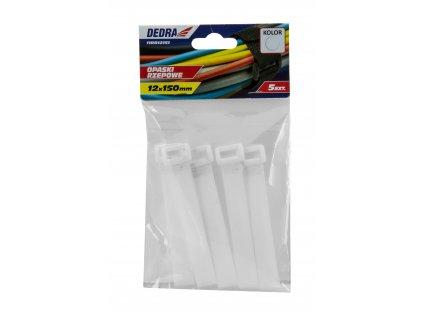 Pásky na suchý zip 12x150mm, bílé 5ks