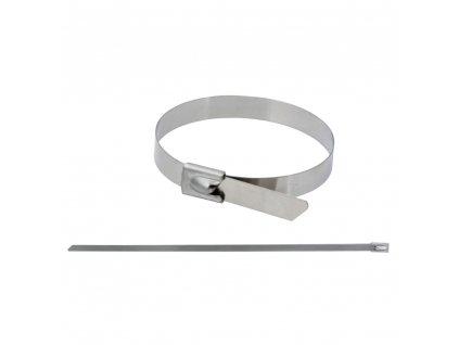 Upínací pásek z nerezové oceli,  7.9x360mm, SS304, 5ks DEDRA 11NB8360