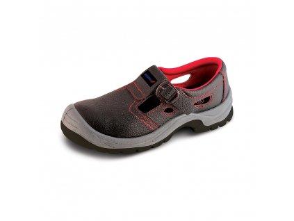 Bezpečnostní sandály D1, kožené, velikost: 41, kat.S1 SRC DEDRA BH9D1-41