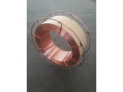Ocelový drát krytý mědi 0.8 mm ocelová špulka 15 kg