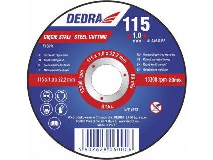 125x2,5x22,2 kotouč na řezání železa DEDRA F13023