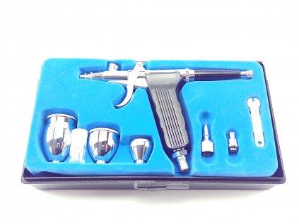Dvojčinná airbrush stříkací pistole DEDRA DED7478