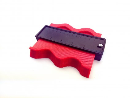 Šablona na profily magnetická 125x100x20mm  + jednoduché kopírování a přenos tvarů