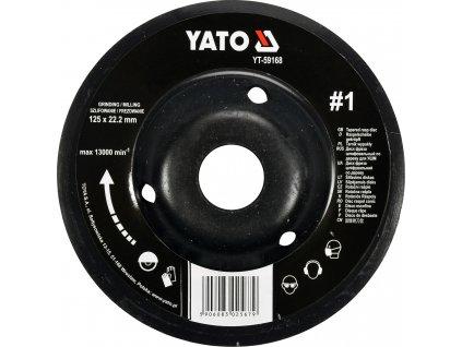 Rotační rašple úhlová jemná 125 mm typ 1 Yato YT-59168