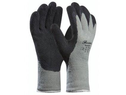 Pracovní rukavice WINTERGRIP šedé velikost 9 - blistr