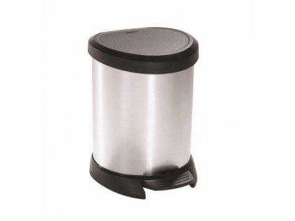Odpadkový koš DECO BIN 5l stříbrný CURVER 185376