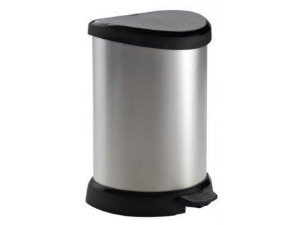 Odpadkový koš DECO BIN 20l stříbrný CURVER 169795