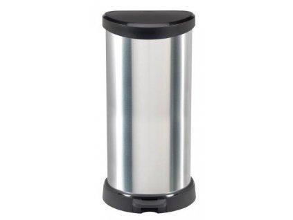 Odpadkový koš DECO BIN 40l stříbrný