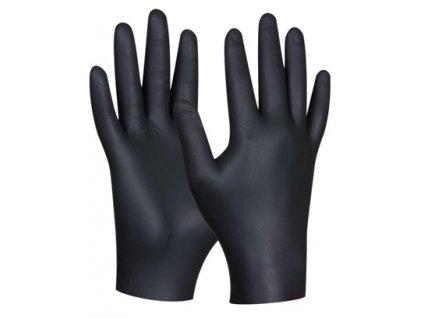 Nitrilové rukavice BLACK NITRIL 80ks - velikost XL GEBOL 709632