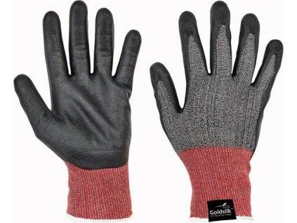 PARVA FH protipořezové rukavice černá/šedá - velikost 6
