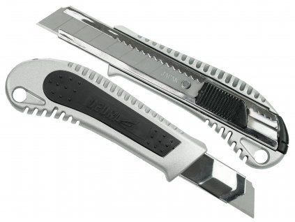 Nůž 18mm kovový+guma, břit odlamovací DEDRA M9017P