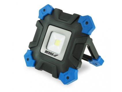 Lampa do dílny 10W COB LED, nabíječka 230V, USB, microUSB