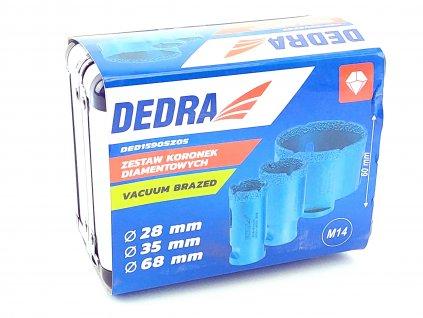 Diamantová korunka Vacuum brazed 3ks:28,35,68mm DEDRA DED1590SZ05