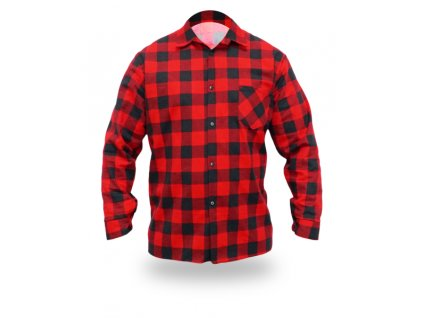 Flanelová košile červené, velikost M, 100% bavlna