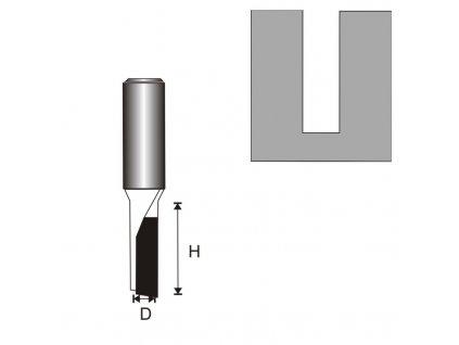 Fréza na dřevo drážkovací 1 destička T6 D3,96 H11 mm DEDRA 07F011A