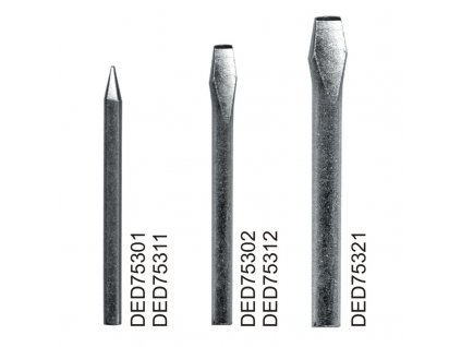 Měděný hrot pro odporovou pájku DED7531, bodový, sada 2 ks