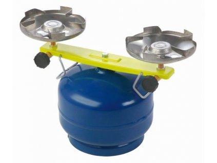 Plynový vařič dvouhořákový na malou PB lahev Meva Picamp