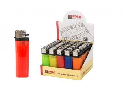 Zapalovač jednorázový kamínkový, balení 50 kusů SOLO MATCHES & FLAMES, a.s. 610103