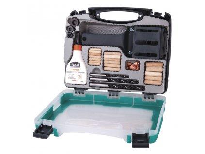 WOLFCRAFT - univerzální box na dřevěné kolíky 6,8,10mm  + mistrovská kolíkovačka