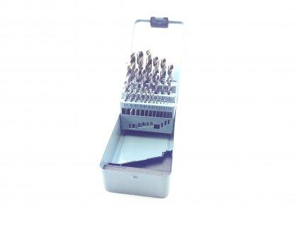 Sada vrtáků do kovu HSS-G vybrušované 25ks (1,0-13,0mm), plechové pouzdro MAGG PROFI 224025