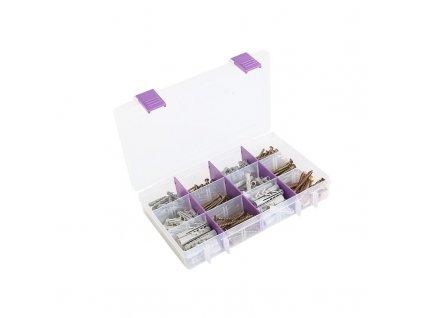 Super Box se spojovacím materiálem pro průměr vrtaného otvoru 5, 6 a 8 mm