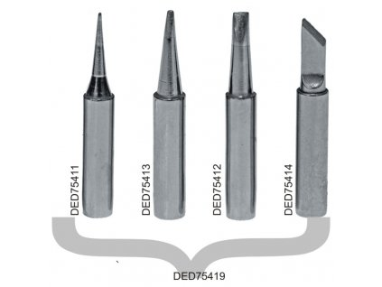 Měděný bodový hrot k pájce 0,2 mm pro DED7541, DED7542, 2 ks DEDRA DED75413