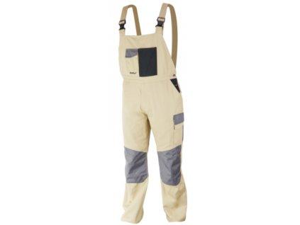 Kalhoty ochranné montérky velikost XXL/58, 100% bavlna, gram.270g/m2