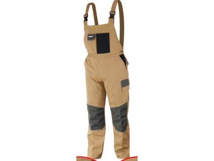 Kalhoty ochranné montérky velikost XXL/58, bavlna+spandex, 270g/m2