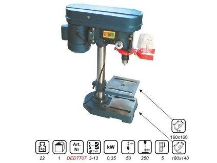 Stojanová stolní vrtačka 350 W, 13 mm, 5 rychlostí