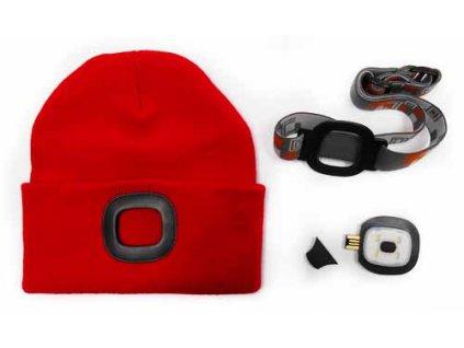 Čepice s LED světlem - červená MAGG 120258