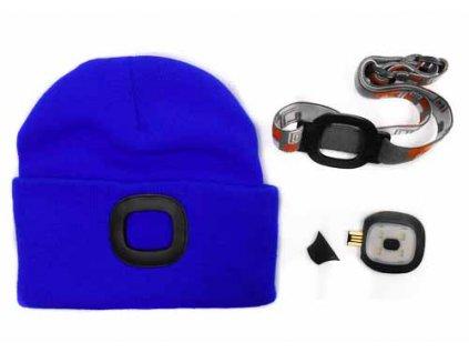 Čepice s LED světlem - světle modrá