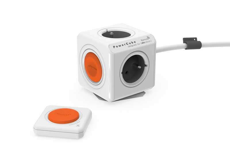 Rozbočka do zásuvky POWERCUBE EXTENDED REMOTE SET bílá / šedá / oranžová