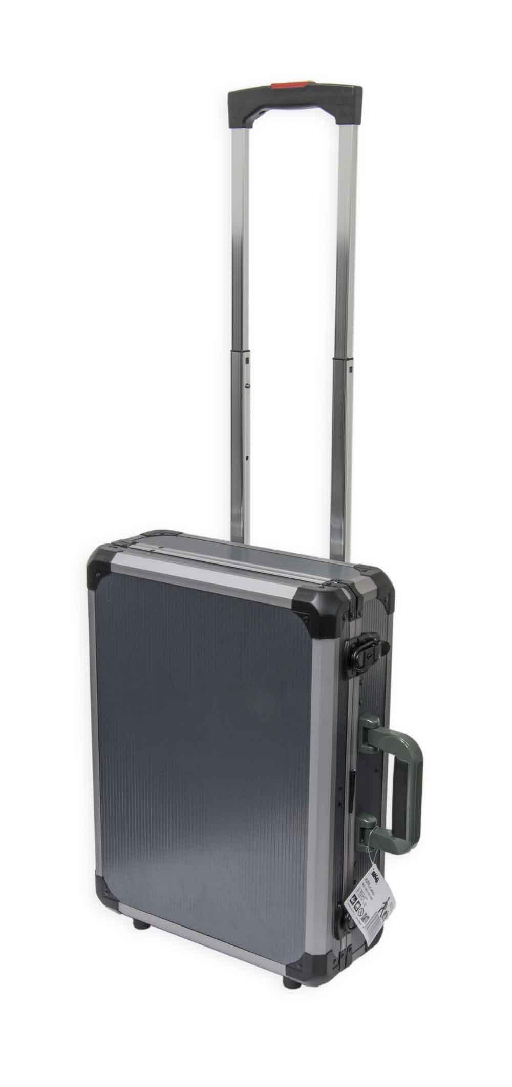 Kufr na nářadí na kolečkách; 465x345x142 mm pojízdný, AL design
