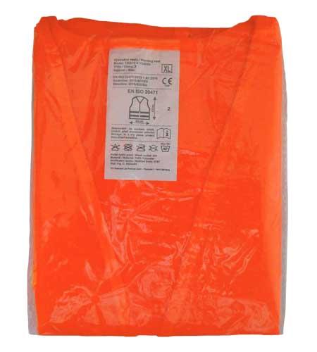 Výstražná reflexní vesta - oranžová ČSN EN ISO 20471:2013
